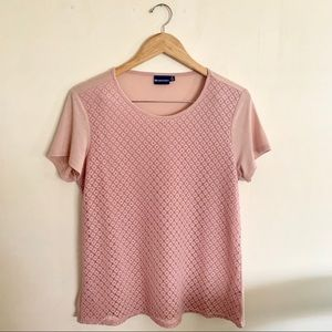 NorthCrest Lace Short Sleeve Top